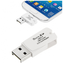Micro USB OTG Adapter SD TF Card Reader