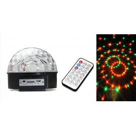 LED Magic Disco Ball Light with MP3 Player + Speaker