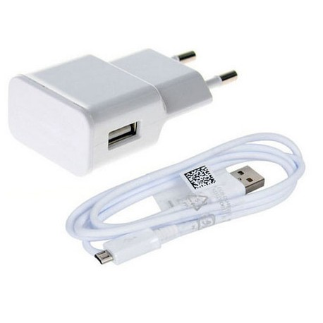 USB Travel Charger/ Adapter with Detachable Micro USB Cable