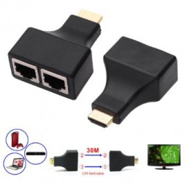 HDMI Extender by CAT5e CAT6e Network LAN Cable