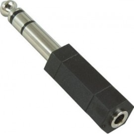 6.3mm Male to 3.5mm Female Adapter