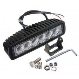 18W Flood LED Light Fog Bar : Offroad SUV 4WD Car Boat Truck