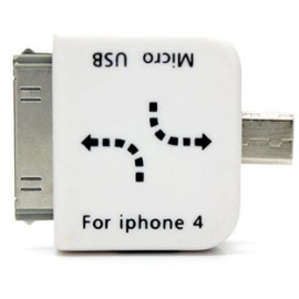 Apple 30 Pin iPhone 4 to  Micro USB, Mini USB Adapter