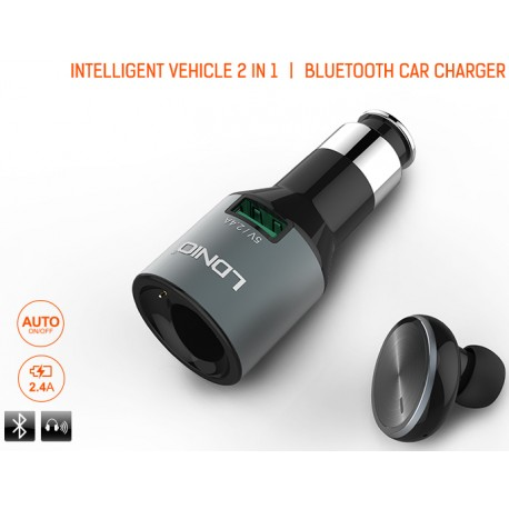 LDNIO Bluetooth Headset + Car Charger