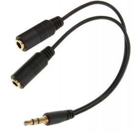 2 x 3.5mm Female to 3.5mm Male Stereo Cable