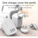 World Travel Charger with USB Charging