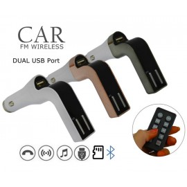 Bluetooth Handsfree Car Kit, FM Modulator