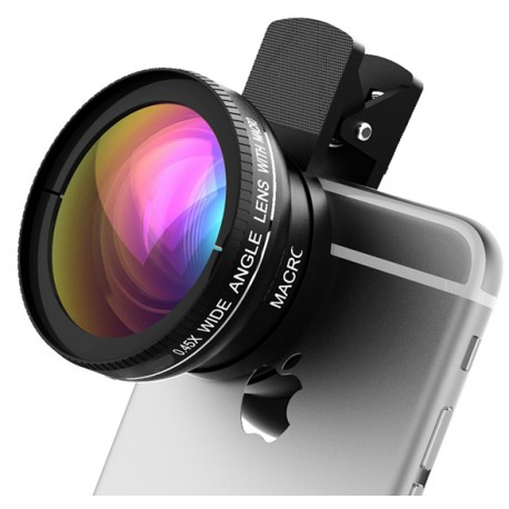 Cellphone Clip Lens (Fish Eye + Wide Angle)