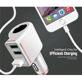 LDNIO 3 Port Car Charger