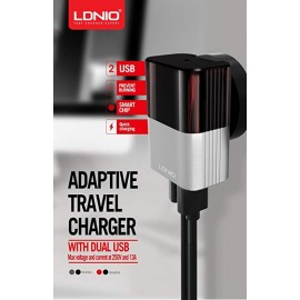 LDNIO  2 Port Car Charger + Lightning Cable