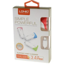 LDNIO  2 Port Car Charger + Micro USB Cable