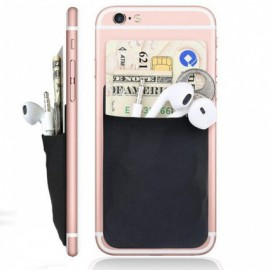 Adhesive Silicon Cellphone Credit Card Holder