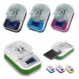 LED Universal Cellphone Battery Wall Charger