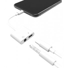 iPhone Lightning to Female 3.5mm Audio Port + Female Charge Port