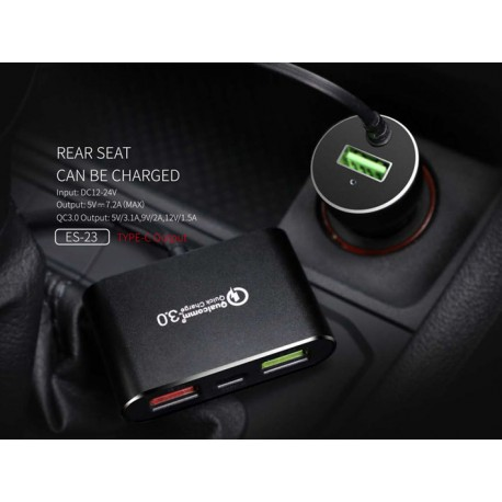 E-Strong ES-23 Qualcomm 3.0 Quick Car Charger