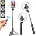 Rechargeable Ring Light Selfie Stick/Tripod with Wireless Remote
